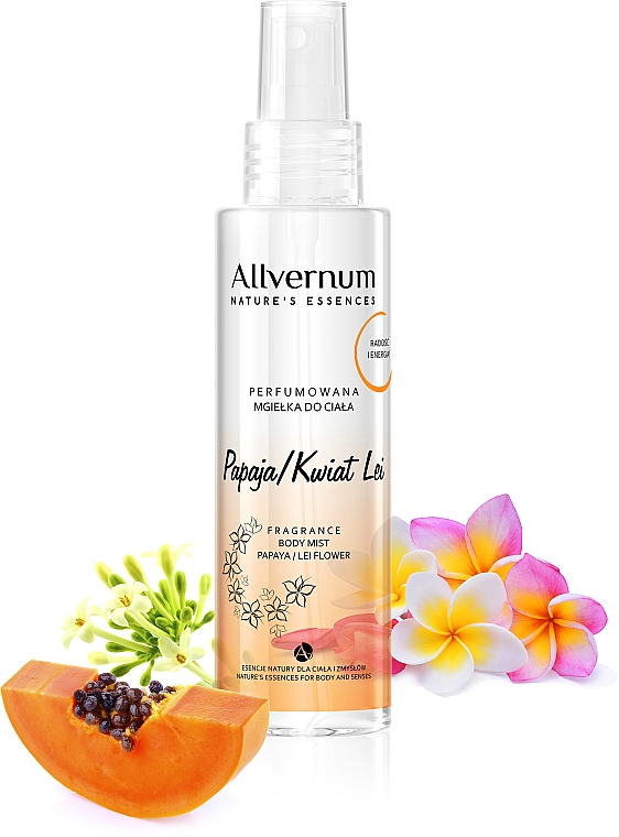 "Scented Body Spray ""Papaya Lei Flower"" - Allverne Nature's Essences Body Mist"