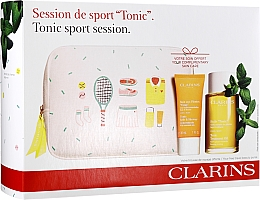 Fragrances, Perfumes, Cosmetics Set - Clarins Tonic Sport Session (bath/f/30ml + b/oil/100ml + bag)