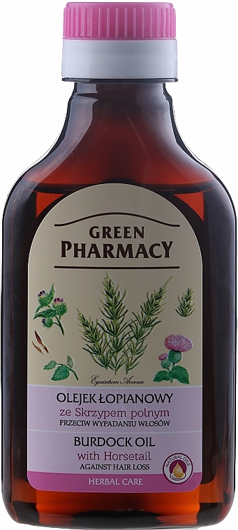 Anti Hair Loss Burdock Oil with Horsetail Extract - Green Pharmacy