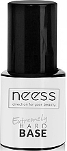 Fragrances, Perfumes, Cosmetics Gel Polish Base Coat, transparent - Neess Extremely Hard Base