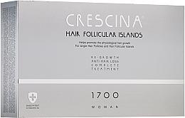 Fragrances, Perfumes, Cosmetics Women Anti Hair Loss Treatment Complex - Crescina Hair Follicular Island Re-Growth+Anti-Hair Loss 1700 Woman