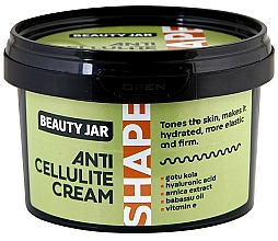 Fragrances, Perfumes, Cosmetics Anti-Cellulite Body Cream - Beauty Jar Shape Anti-Cellulite Cream