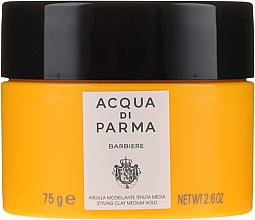 Fragrances, Perfumes, Cosmetics Medium Hold Modeling Hair Clay - Acqua Di Parma Barbiere The Styling Clay Medium Hold