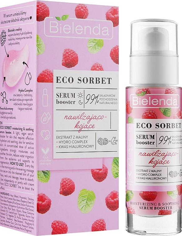 Raspberry Face Serum Booster - Bielenda Eco Sorbet Moisturizing & Soothing Serum Booster
