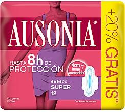 Fragrances, Perfumes, Cosmetics Pantiliners with Wings, 12 pcs - Ausonia Super Plus Towels