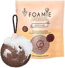Fragrances, Perfumes, Cosmetics Foaming Exfoliating Shower Sponge with Awakening Coffee Aroma - Foamie Mocca Peel