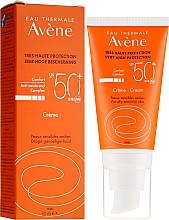 Fragrances, Perfumes, Cosmetics Facial Sun Cream - Avene Eau Thermale Sun Cream SPF50