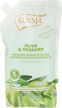 "Fragrances, Perfumes, Cosmetics Liquid Cream Soap ""Olive & Yogurt"" - Luksja Creamy Olive & Yogurt Soap (doypack)"