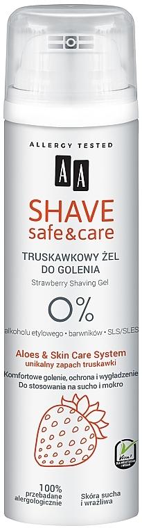 Strawberry Shaving Gel - AA Shave Safe & Care Strawberry Shaving Gel