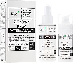 "Fragrances, Perfumes, Cosmetics Set ""Whitening Night Complex"" - DLA (cr/30g + activ/50g)"