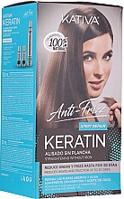 Fragrances, Perfumes, Cosmetics Set - Kativa Anti-Frizz Straightening Without Iron Xpert Repair (h/mask/150ml + shmp/30ml + h/cond/30ml)