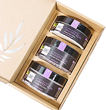 "Fragrances, Perfumes, Cosmetics Set ""Acai Berries"" - Nature Queen(peel/250g+b/butter/150ml+b/lotion/200ml)"