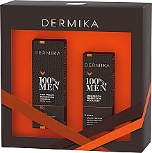 Fragrances, Perfumes, Cosmetics Set - Dermika 100% For Men (f/cr/50ml + eye/cr/15ml)