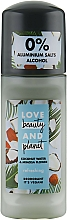 "Fragrances, Perfumes, Cosmetics Roll-on Deodorant ""Coconut Water and Mimosa Flowers"" - Love Beauty And Planet"
