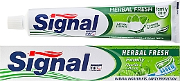 Fragrances, Perfumes, Cosmetics Toothpaste with Herbs - Signal Family Herbal Fresh Toothpaste
