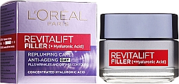 Fragrances, Perfumes, Cosmetics Hyaluronic Anti-Aging Day Filler - L'Oreal Paris Revitalift Filler Hyaluronic Acid Day Cream