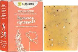 "Fragrances, Perfumes, Cosmetics Bio Soap ""Poppy and Cypress"" - La Saponaria Bio Sapone"