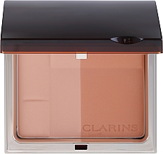Fragrances, Perfumes, Cosmetics Compact Mineral Bronzing Powder - Clarins Bronzing Duo Mineral Powder Compact SPF 15