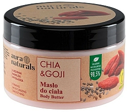 Fragrances, Perfumes, Cosmetics Chia & Goji Body Butter - Aura Naturals Chia & Goji Body Butter