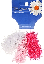 "Fragrances, Perfumes, Cosmetics Elastic Hair Bands ""Spaghetti"" 3 pcs, pink + white - Top Choice"