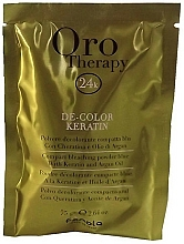 Fragrances, Perfumes, Cosmetics Bleaching Powder with Keratin, blue - Fanola Oro Therapy Color Keratin