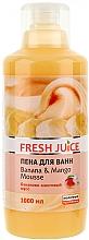 Fragrances, Perfumes, Cosmetics Bubble Bath - Fresh Juice Banana and Mango Mousse