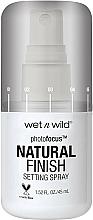 Fragrances, Perfumes, Cosmetics Makeup Fixing Spray - Wet N Wild Photofocus Natural Finish Setting Spray