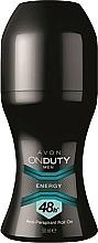 Fragrances, Perfumes, Cosmetics Antiperspirant-Deodorant - Avon On Duty Men Energy Antiperspirant Roll-On