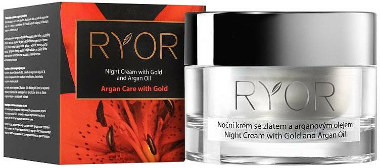 Night Cream with Gold & Argan Oil - Ryor Night Cream With Gold And Argan Oil — photo N1