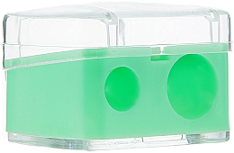 Fragrances, Perfumes, Cosmetics Double Color Pencil Sharpener with Lid, light green - Top Choice