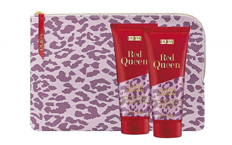 Set - Pupa Red Queen 001 (bag + Milk/200 ml + cream/200ml) — photo N1