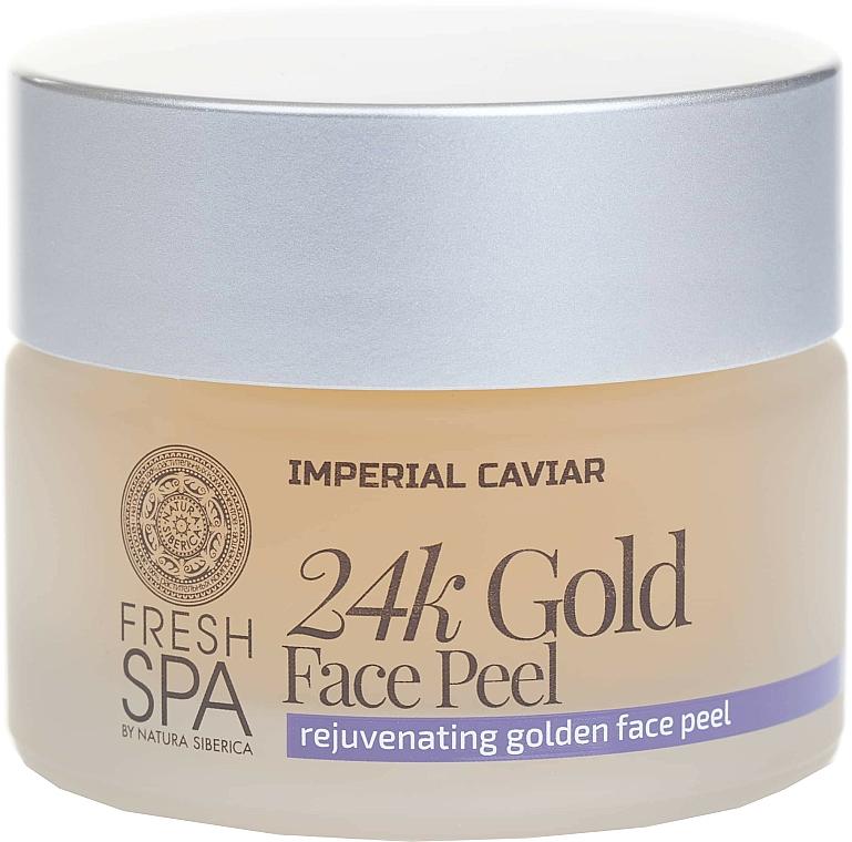 Golden Face Peel - Natura Siberica Fresh Spa Imperial Caviar Rejuvenating Golden Face Peel 24K Gold