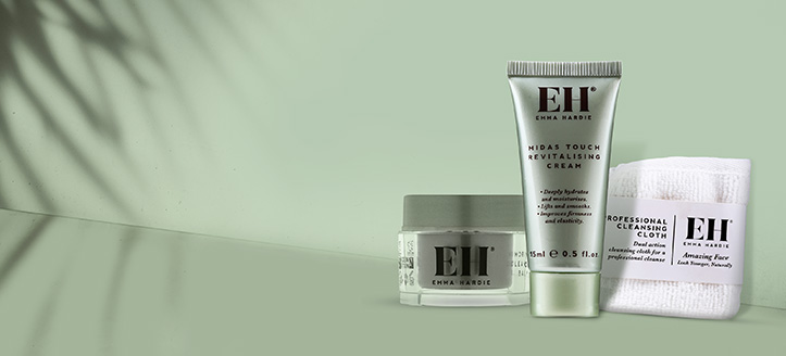 Buy any Emma Hardie product and get a free gift to choose from: muslin cleansing cloth, face cream or cleansing balm