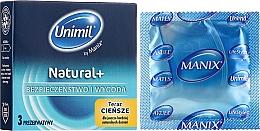 Fragrances, Perfumes, Cosmetics Condoms, 3 pcs - Unimil Natural