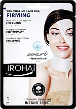 Fragrances, Perfumes, Cosmetics Face Mask - Iroha Nature Firming Pearl 100% Cotton Face & Neck Mask
