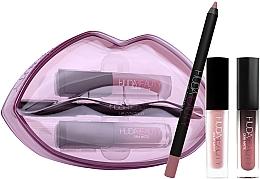 Set - Huda Beauty Matte & Cream Lip Set Provocateur & Muse (l/pen/1.2g + lipstick/1.9ml + lipstick/1.5ml) — photo N1