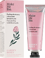 Fragrances, Perfumes, Cosmetics Face Peeling with Flower Acids - Make Me Bio Garden Roses Face Peeling With Floral Acids