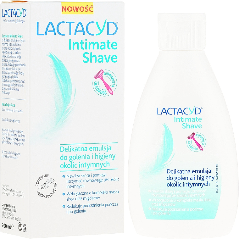 Delicate Emulsion for Shaving and Intimate Hygiene - Lactacyd Intimate Shave