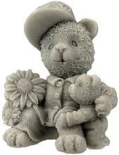 "Fragrances, Perfumes, Cosmetics Handmade Natural Soap ""Two Teddy Bears"", gray - LaQ Happy Soaps"