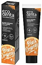 Fragrances, Perfumes, Cosmetics Whitening Charcoal Toothpaste with Orange Flavor, fluoride-free - Ecodenta Black Orange Whitening Toothpaste