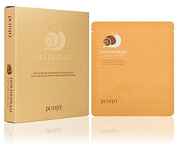Fragrances, Perfumes, Cosmetics Hydrogel Face Mask with Gold and Snail Mucus - Petitfee & Koelf Gold & Snail Hydrogel Mask Pack