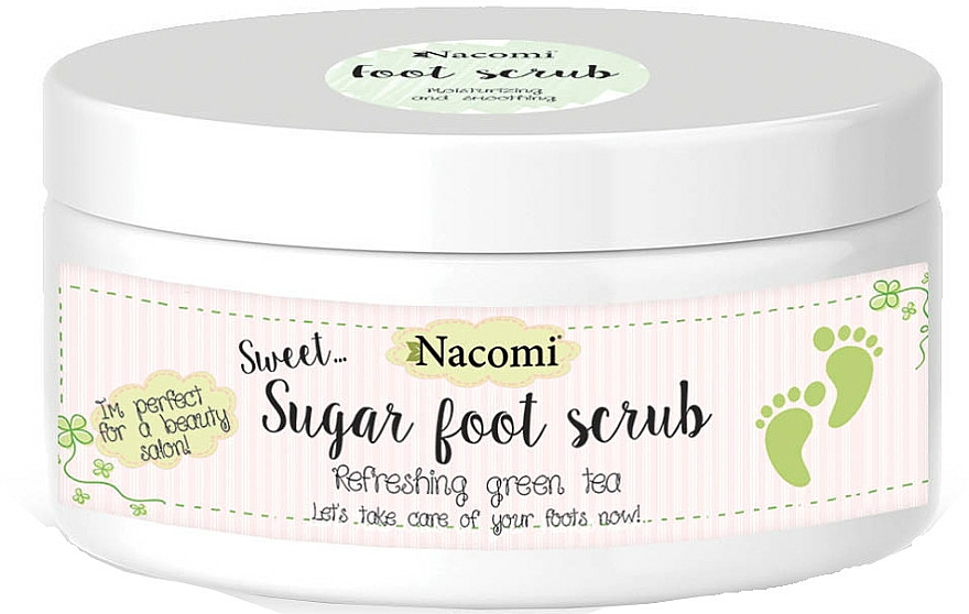 Green Tea Sugar Peel for Legs - Nacomi Sugar Foot Peeling