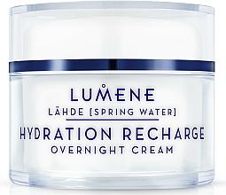 Fragrances, Perfumes, Cosmetics Moisturizing and Restoring Night Cream - Lumene Lahde Hydration Recharge Overnight Cream