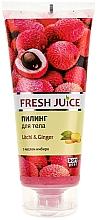 "Fragrances, Perfumes, Cosmetics Body Peeling ""Litchi & Ginger"" - Fresh Juice Litchi & Ginger"