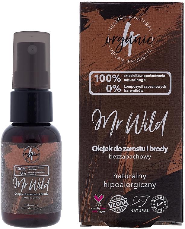 Odorless Hypoallergenic Hair & Beard Oil - 4Organic Mr Wild