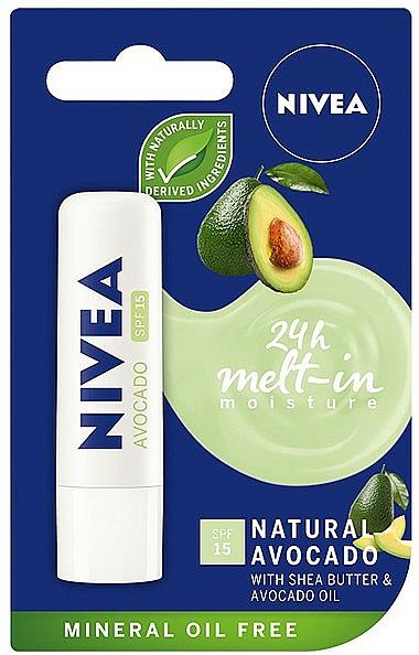 Avocado Lip Balm - Nivea 24H Melt-in Natural Avocado Lip Balm SPF15