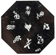 Fragrances, Perfumes, Cosmetics Stamping Palette, 9 patterns - Ronney Professional