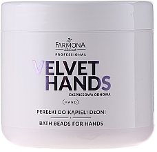 Fragrances, Perfumes, Cosmetics Hand Bath Beads with Lily and Lilac Scent - Farmona Professional Velvet Hands Bath Beads For Hands