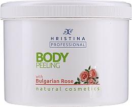 Fragrances, Perfumes, Cosmetics Bulgarian Rose Body Peeling - Hristina Cosmetics Bulgarian Rose Body Peeling