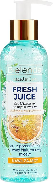 """Moisturizing Micellar Gel """"Orange"""" - Bielenda Fresh Juice Micellar Gel Orange"""